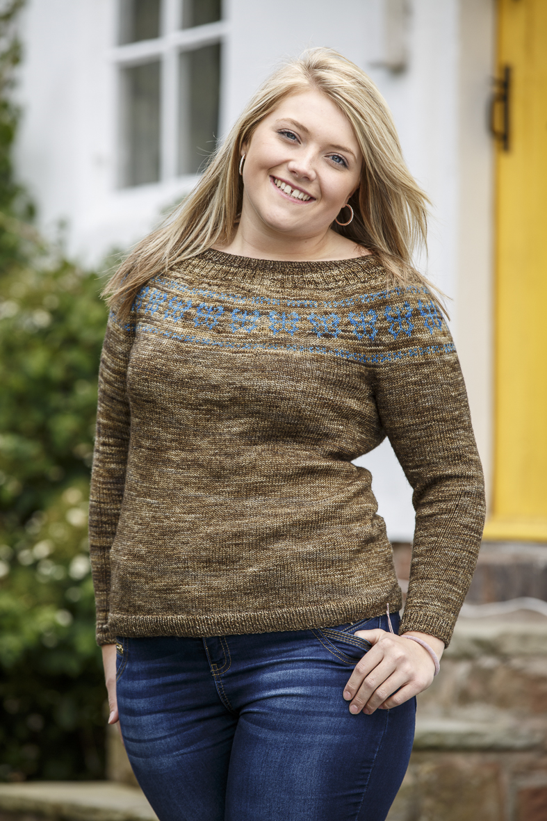 Challow sweater in Vivacious (1)